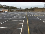 Ford UK HQ Sunday Line Marking in readiness for staff on Monday Morning